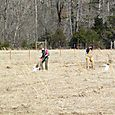 Joy and Lizzy planting trees